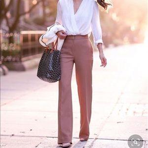 Express Brown Flared Dress Pants